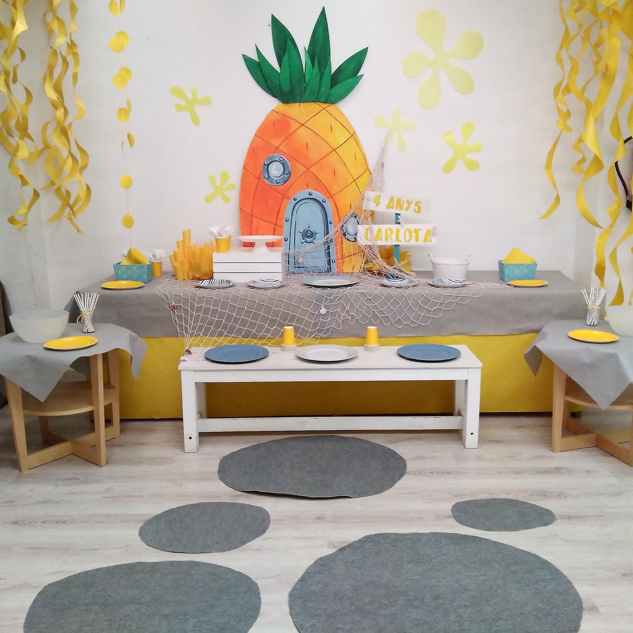 decoración para fiesta de cumpleaños bob esponja